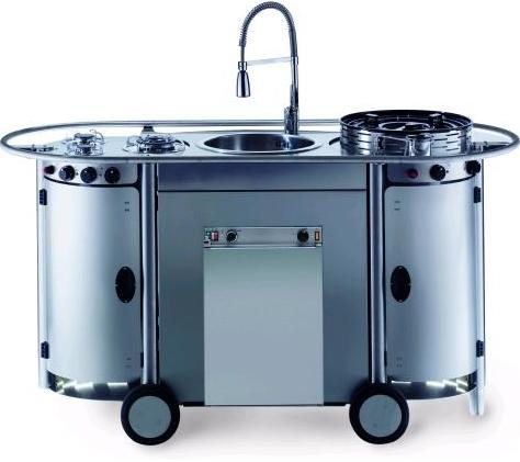 portable kitchen unit led lights bongos from emme group a professional mobile