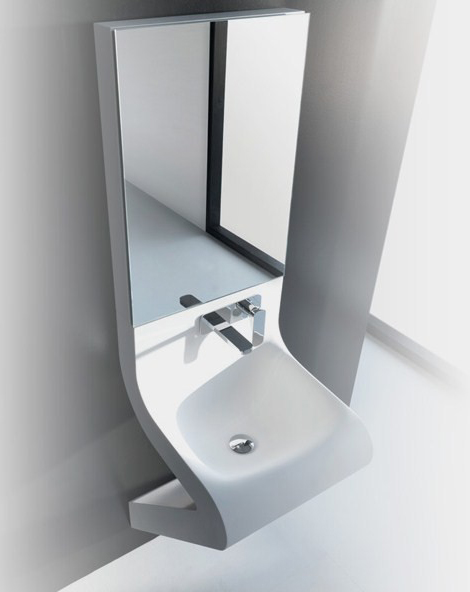 Wash Basin Designs  new Wave washbasin by ArtCeram with