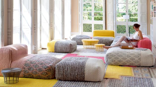 Wool Furniture Mangas from GAN by Patricia Urquiola