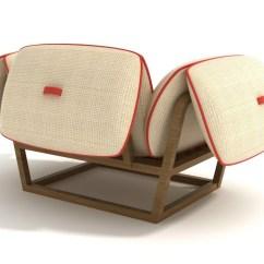 Unusual Armchair Posture Desk Stool Garden Has Futuristic Design
