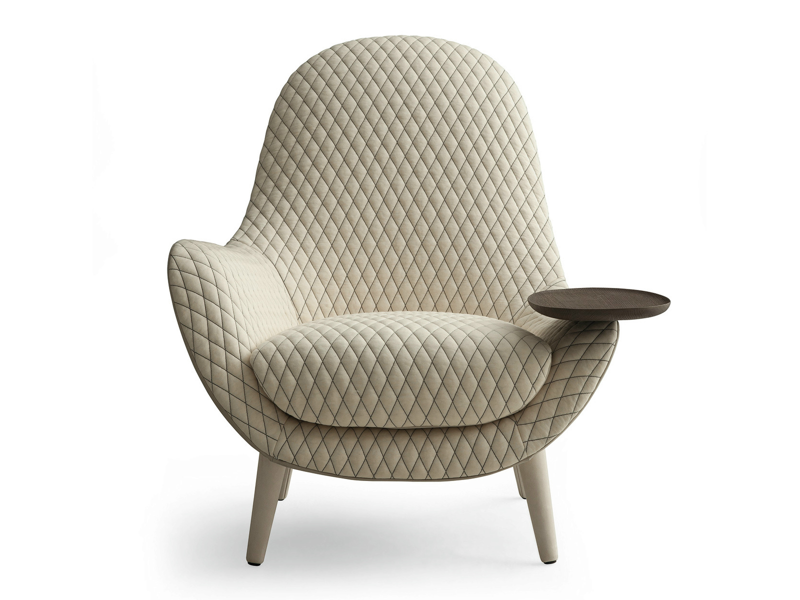 mixing leather and fabric furniture in living room heater lounge armchair mad king by marcel wanders for poliform