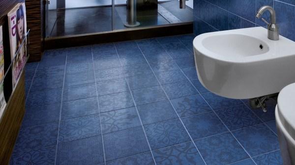 Blue Bathroom Floor Tile Ideas
