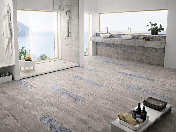 Wood Look Floor Tile Bathroom Ideas