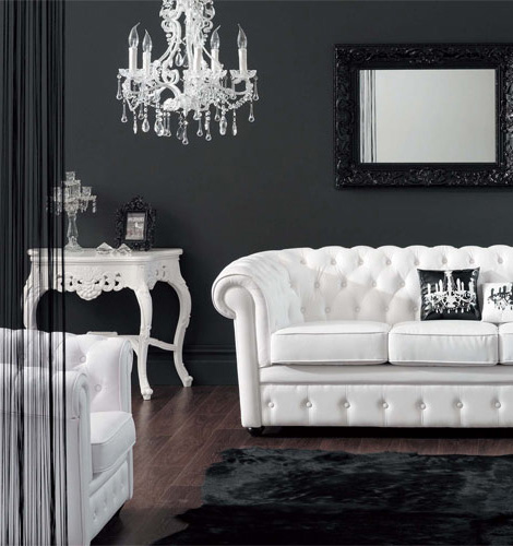 glam sofa set comtemporary baroque style furniture with modern twist, at modani