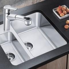Compact Kitchen Sink 4 Stool Island Blanco New Blancostatura With Blasta3062 Retractable Faucet