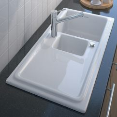 Ceramic Kitchen Sink Renovation Financing Built In By Duravit New Cassia Sinks Duraceram 1