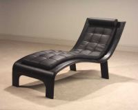 Leather Lounge Chaise 'Tango' from Casa Novalia ...