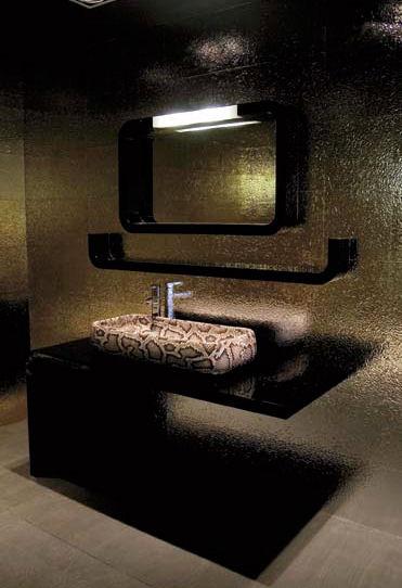 Snake Skin  Crocodile Skin bathroom decor from Ceramica