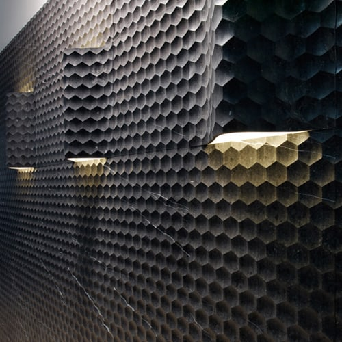 Curved Wall Tiles By Lithos New Favo Curve