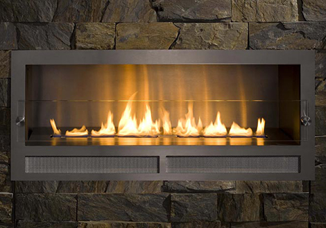 Architectural Fireplaces  no chimney ethanol fireplace Ribbon Fire by Digifire