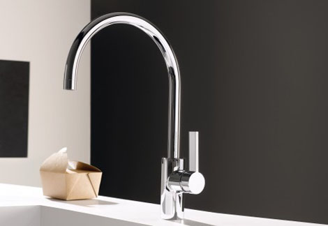 wall mounted kitchen faucets brick backsplash dornbracht faucet - new tara ultra single lever ...
