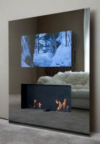 Eco-friendly Fireplaces with built-in LCD TV - Safretti ...