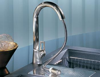 franke kitchen faucet swanstone sink new mythos ff 1080 contemporary pull out stream only