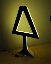Funky Table Lamps in plexiglass by Chrysalide