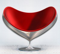 Swivel Fiberglass Chair by Giovannetti