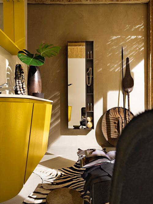 Gorgeous Yellow Bathroom Vanity By Cerasa