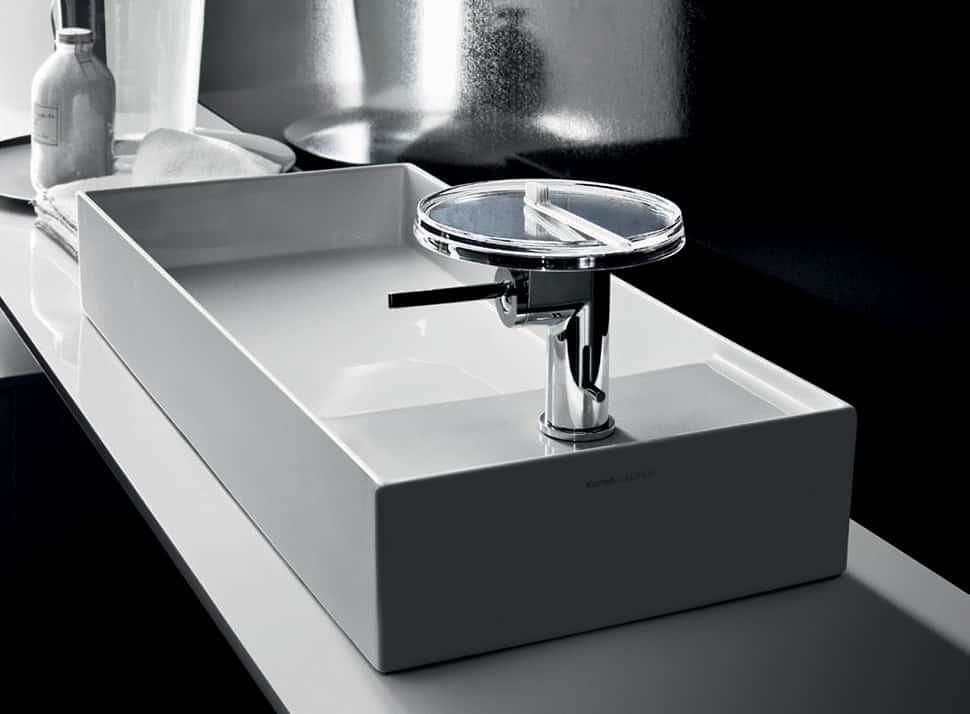 Hidden Drain Sinks by Kartell for Laufen