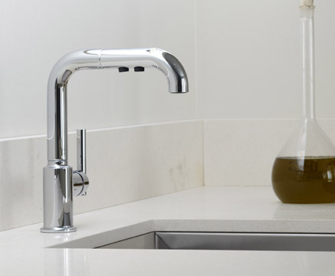kohler purist kitchen faucet colors for cabinets new contemporary