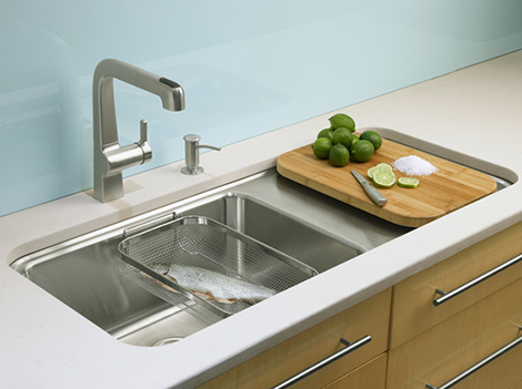 kohler kitchen sink wall hanging ideas wet surface new single basin sinks prologue