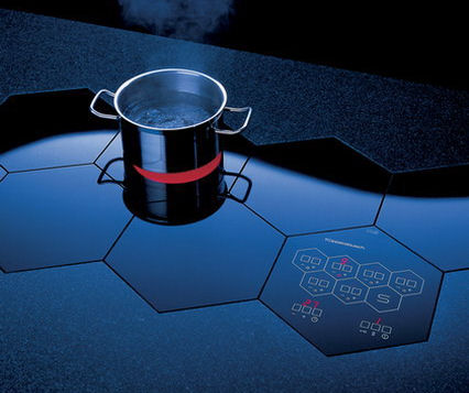 Electric Cooktops by Kuppersbusch  builtin honeycomb cooktop