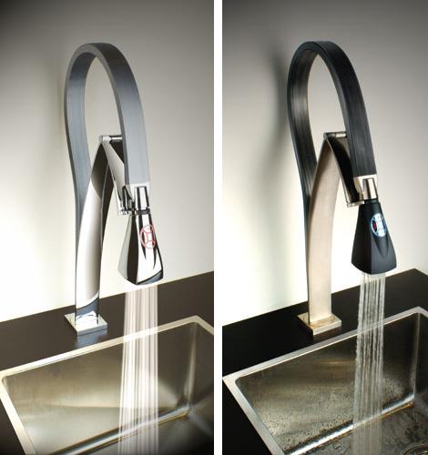 kitchen fauct backsplash glass tiles faucets 7 most innovative faucet designs for 2009 paini flexible jpg