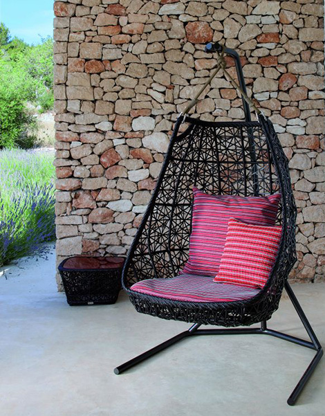 swing chair patricia urquiola canvas folding chairs hanging patio rattan by 1