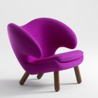 Cute Comfy Modern Chair by One Collection  Pelican