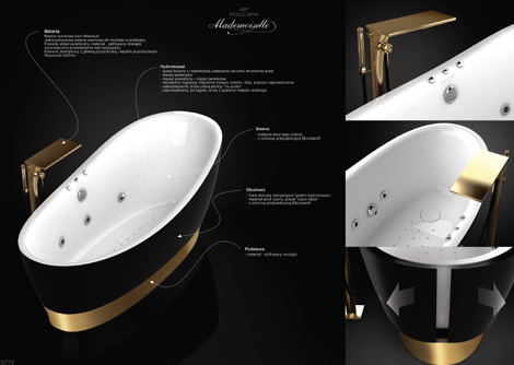 Exclusive Bathtub Design From Poland Mademoiselle By Poolspa