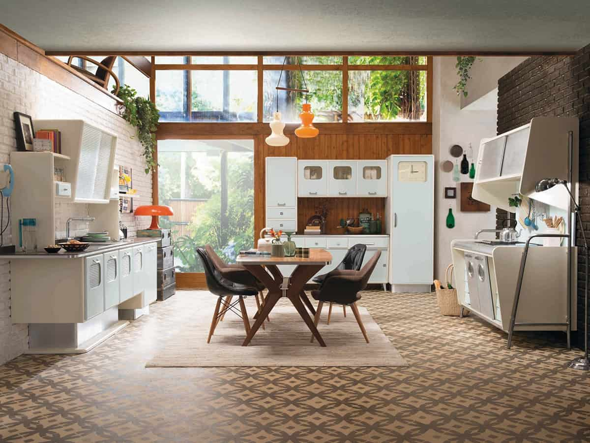 Marchi Group Cucine Retro Kitchen With 1950s Flare St Louis By Marchi Cucine