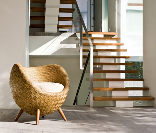 comfortable wicker chairs arm upholstered small rattan chair by kenneth cobonpue la luna view in gallery cute 2