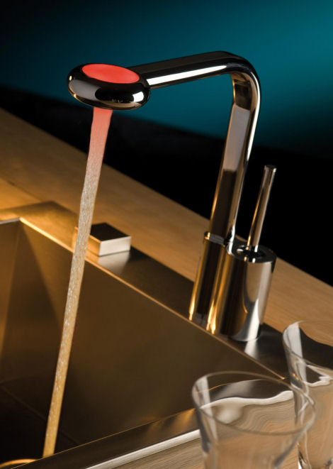LED Faucet From Webert New Arcobaleno Contemporary Kitchen Faucet