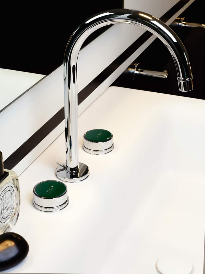 Simple Wall Mounted Geometric Faucet Set by Zucchetti