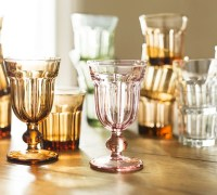 Colorful Cafe Glassware by Pottery Barn: retro style ...