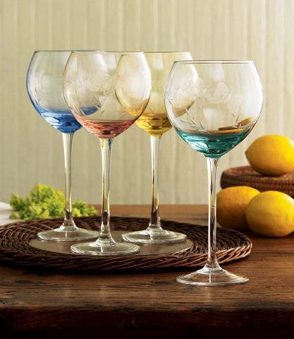 Lenox Butterfly Meadow Glassware Set  Mixed Balloon Wine