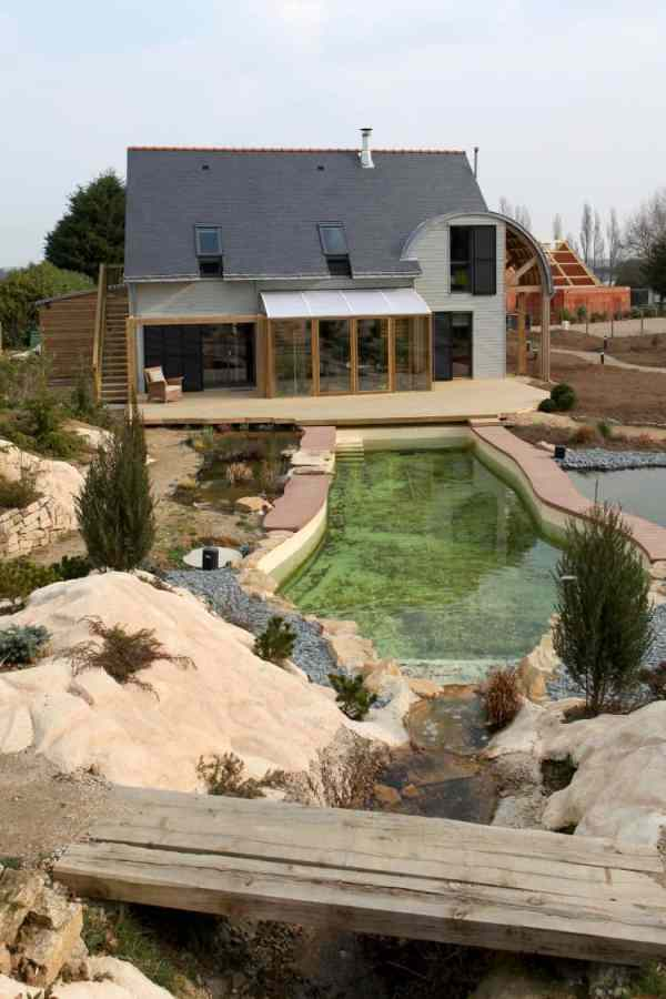 organic bioclimatic house in brittany