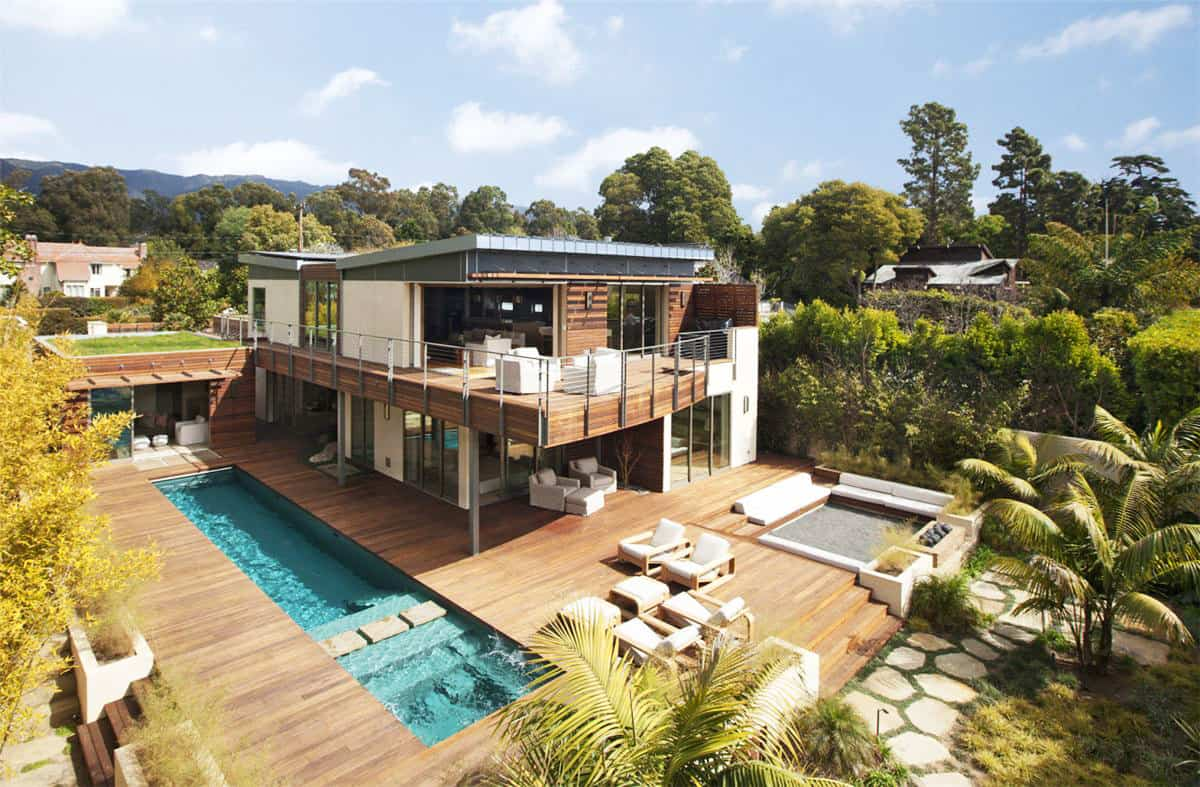 Platinum Level LEED Home with Pool House