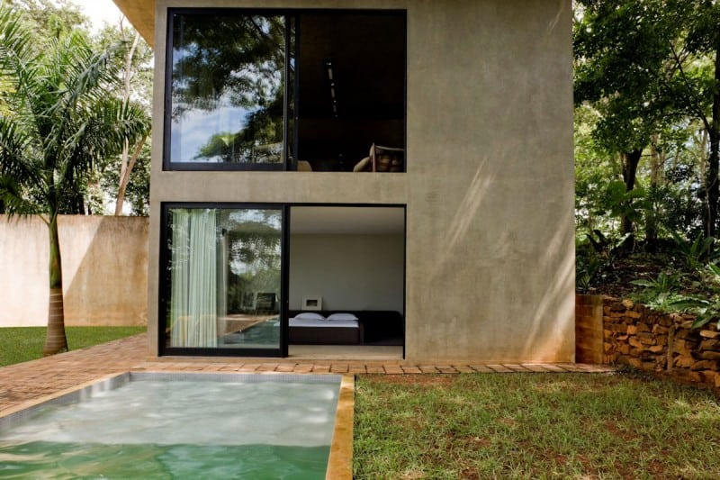 Modern House Made of Concrete Boxes