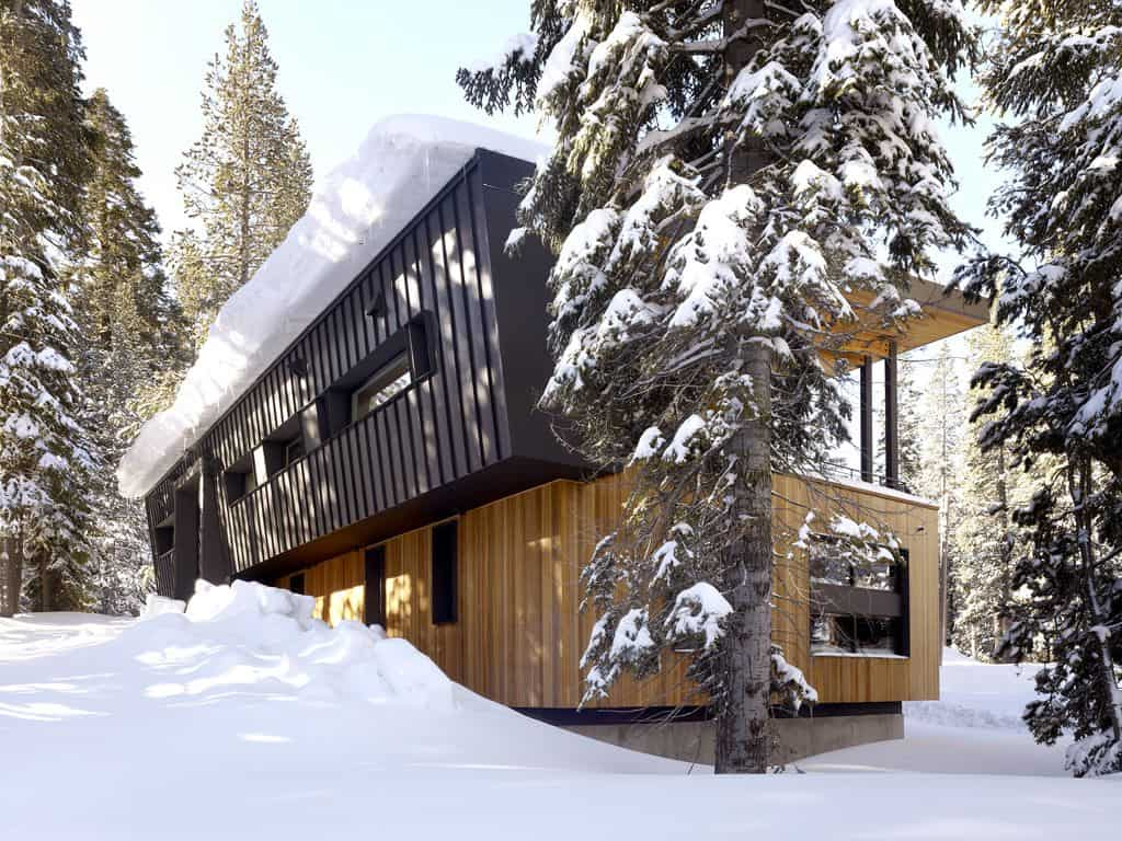 Modern Mountain Home Uses Railroad Avalanche Shed Design