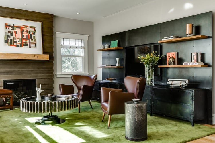 Countryside Residence with Eclectic Interior Design