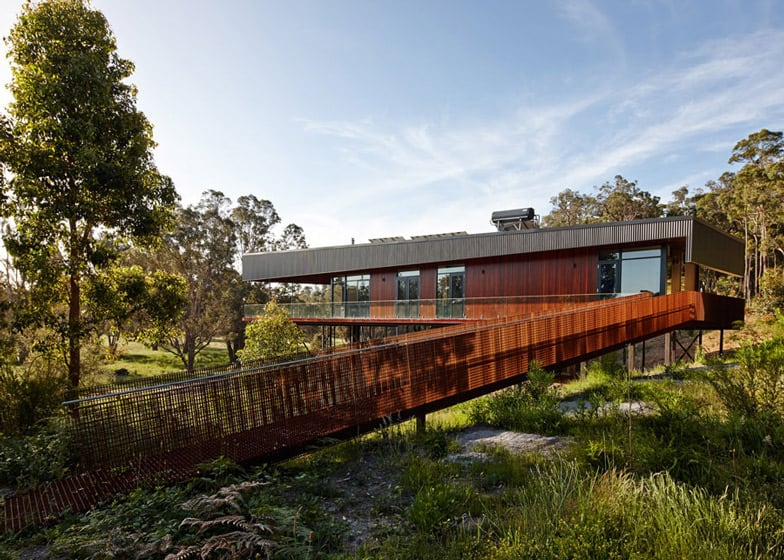 Sustainable House On Stilts Accessed By Steel Ramps