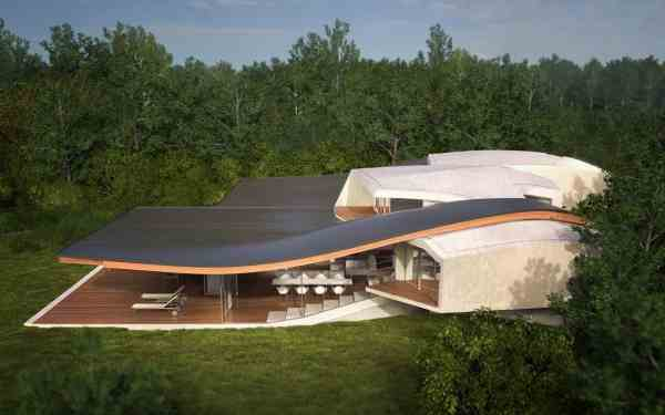 Futuristic Vacation Home Opens Outdoors
