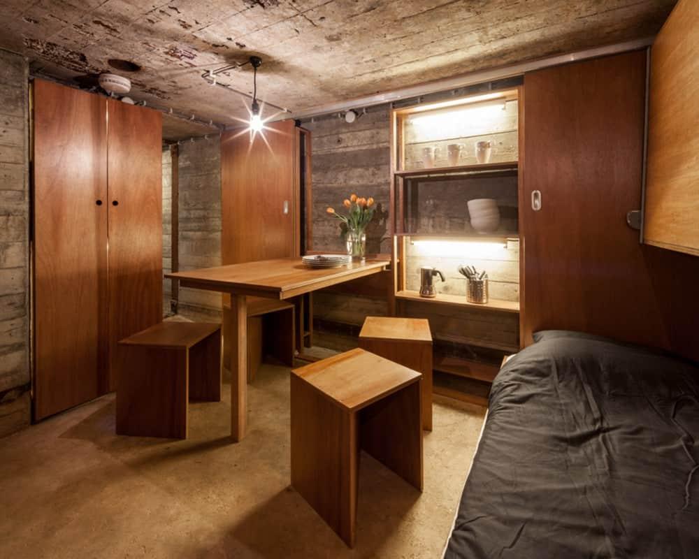 Best Kitchen Gallery: Tiny War Bunker Makes Unique Underground Home of Underground Shelter Homes on rachelxblog.com