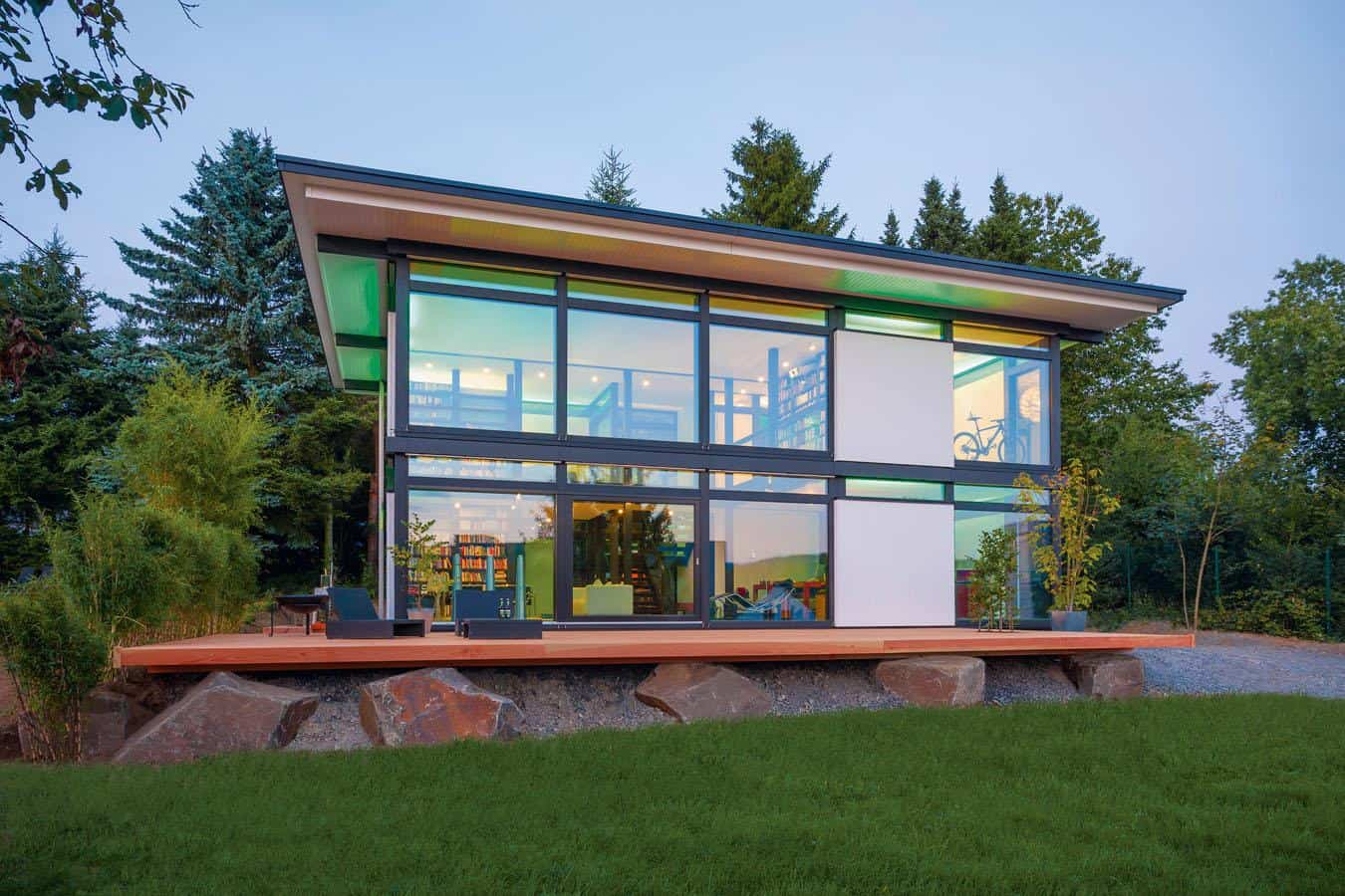 HUF HAUS Modum  New Prefab House Concept for Intelligent Timber Modular System