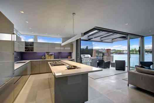 View In Gallery Floating Homes Interiors Modern Kitchen Jpg