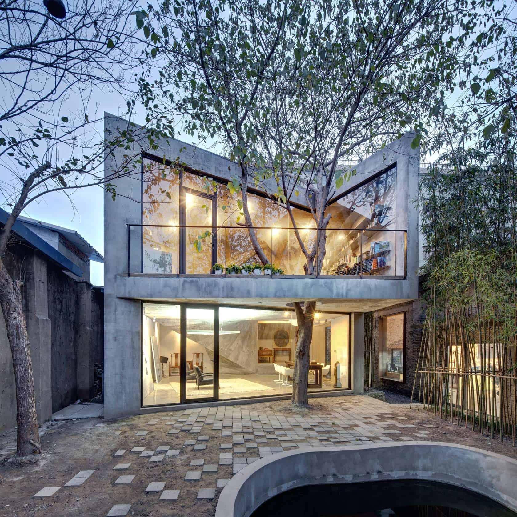 Best Kitchen Gallery: Advanced Digital Architecture And A Tree Define This Unique Concrete of Build Concrete Home on rachelxblog.com