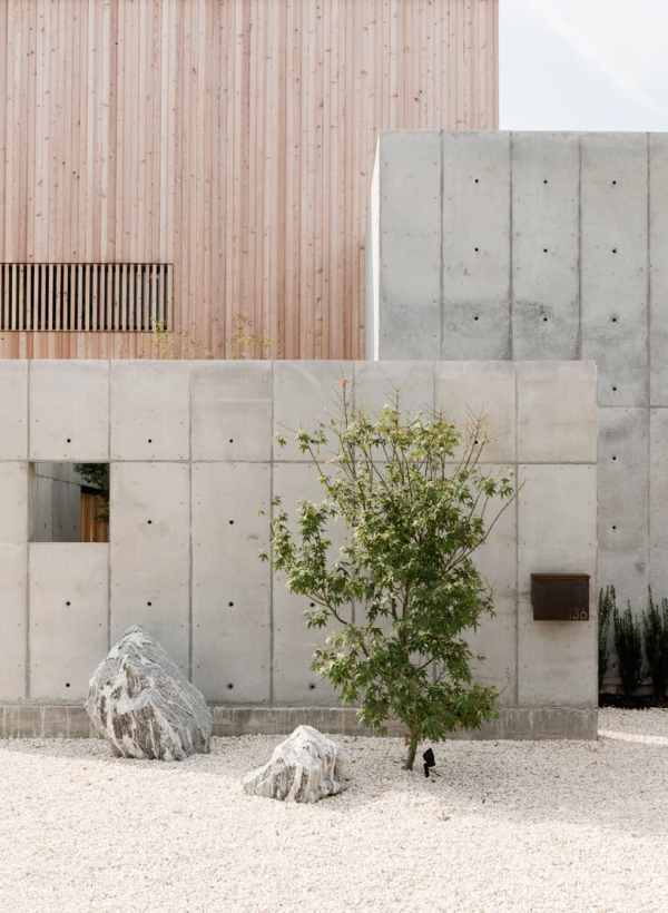 Concrete Box House Influenced Japanese Design