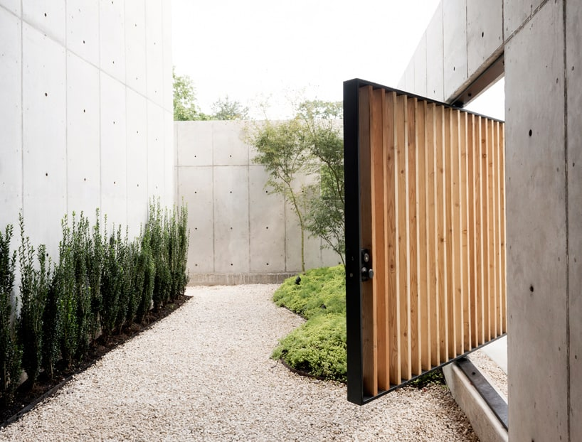Concrete Box House Influenced By Japanese DesignLouvered Exterior Access Doors   Ideasidea. Louvered Exterior Access Doors. Home Design Ideas
