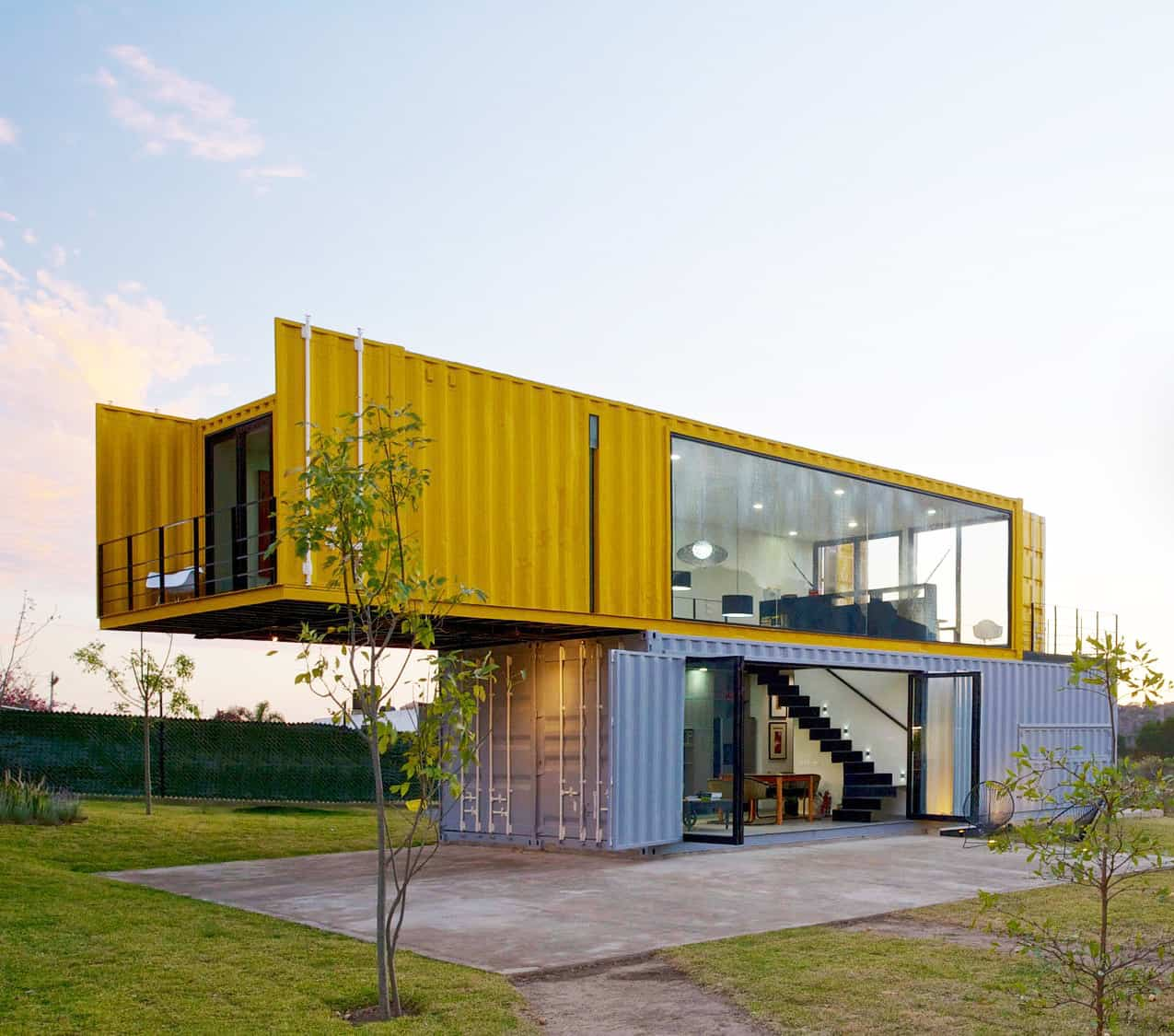 Best Kitchen Gallery: 4 Shipping Containers Prefab Plus 1 For Guests of Steel Container Homes  on rachelxblog.com