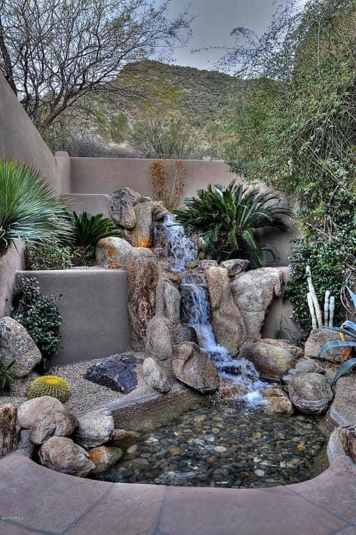 arizona desert home combines waterscaping