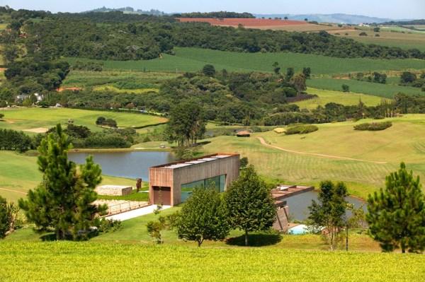 contemporary hillside home in brazil
